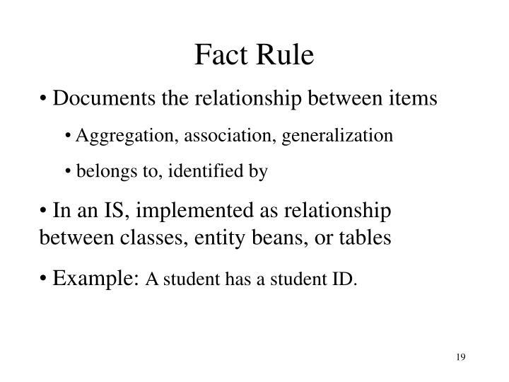 Fact Rule