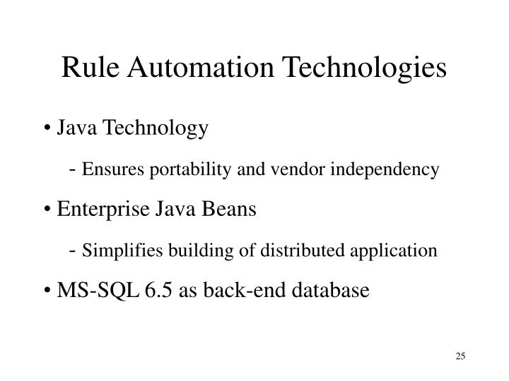 Rule Automation Technologies