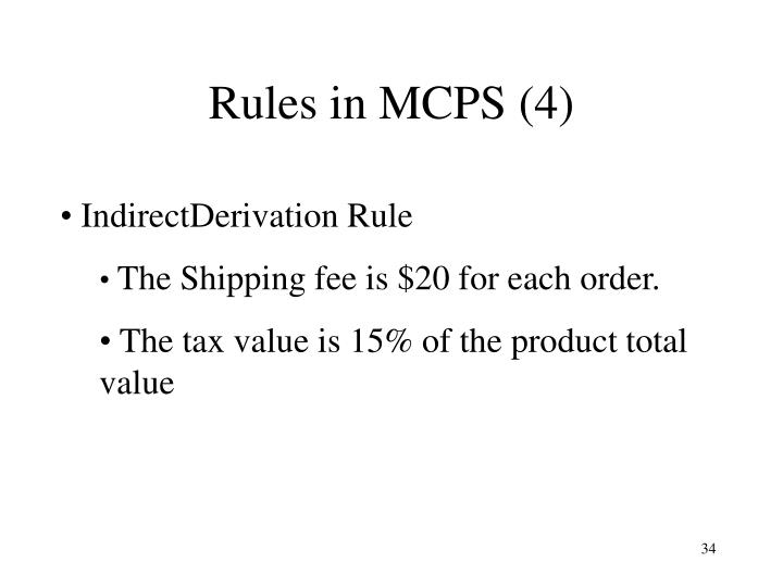 Rules in MCPS (4)