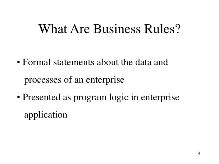 What Are Business Rules?