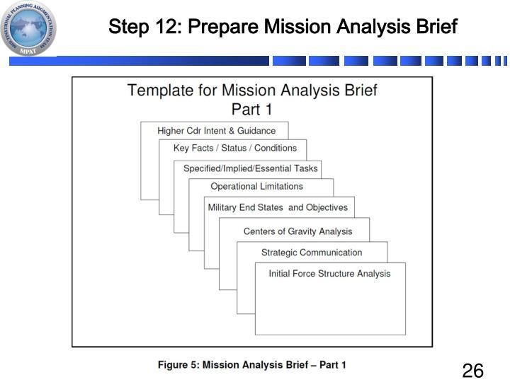 Step 12: Prepare Mission Analysis Brief