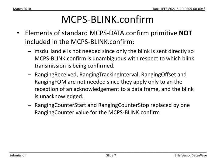 MCPS-BLINK.confirm