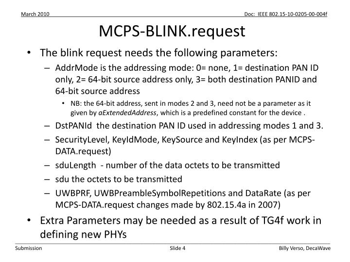 MCPS-BLINK.request