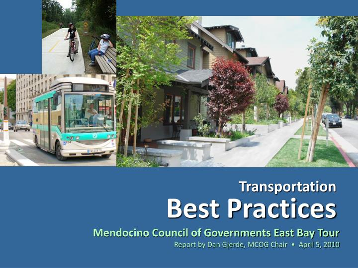 Transportation best practices