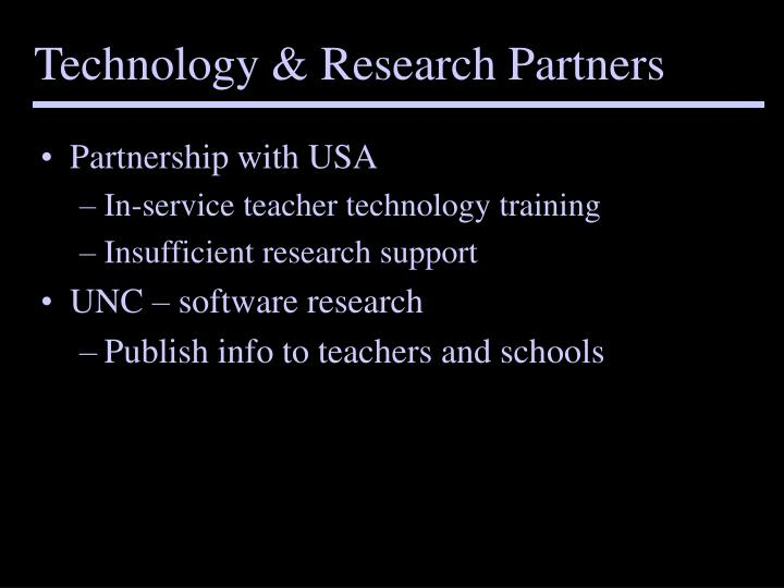 Technology & Research Partners