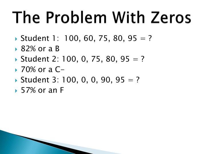 The Problem With Zeros