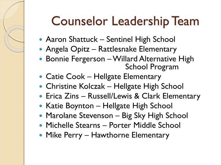 Counselor Leadership Team
