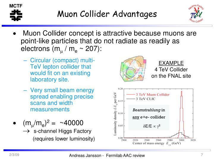 Muon Collider Advantages