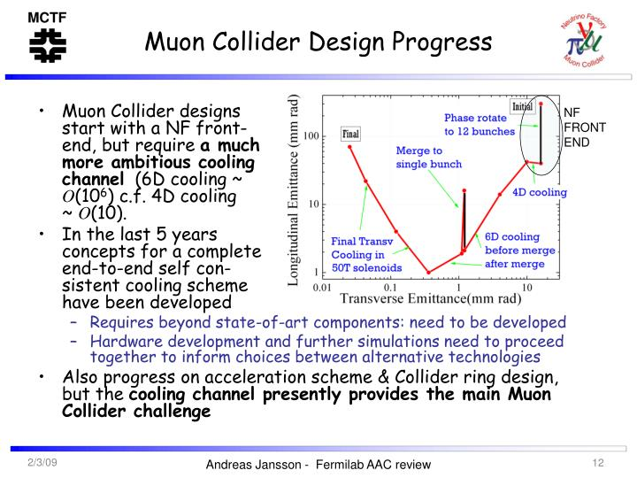Muon Collider Design Progress