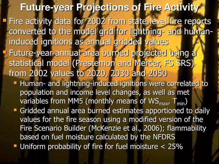 Future-year Projections of Fire Activity