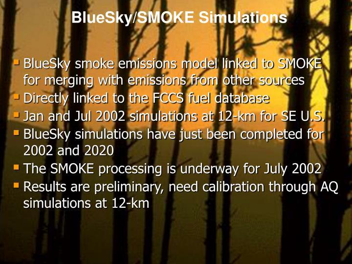 BlueSky/SMOKE Simulations