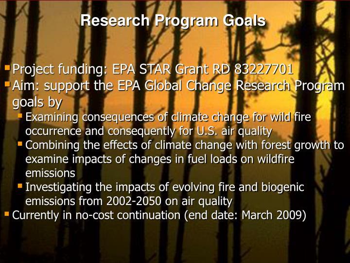 Research Program Goals