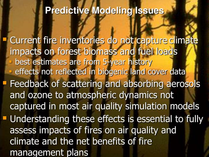 Predictive Modeling Issues