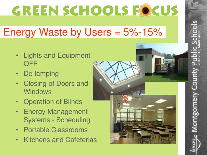 Energy Waste by Users = 5%-15%