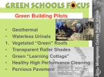 green building pilots