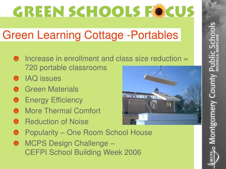 Green Learning Cottage -Portables