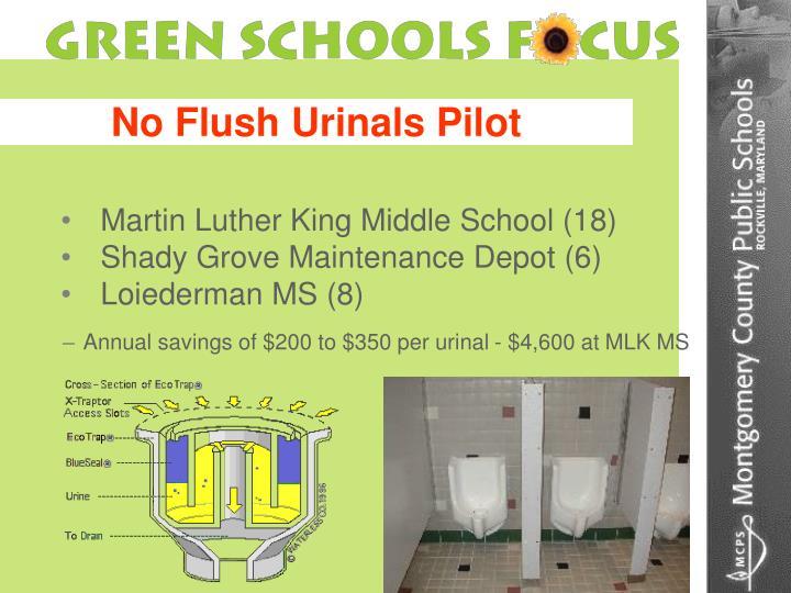 No Flush Urinals Pilot