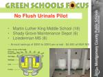 no flush urinals pilot