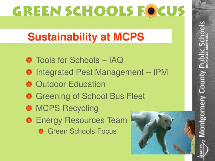 Sustainability at MCPS
