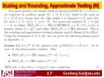 scaling and rounding approximate testing n