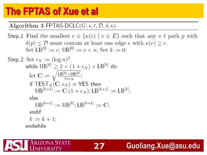 The FPTAS of Xue et al