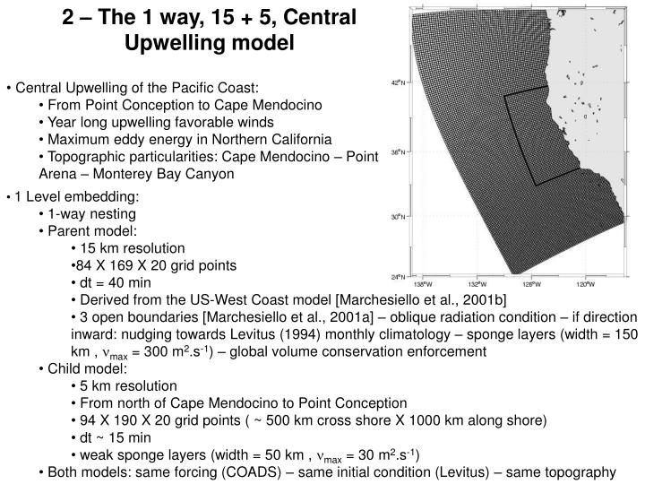 2 – The 1 way, 15 + 5, Central Upwelling model