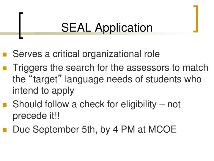 SEAL Application
