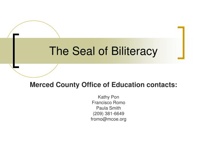 The seal of biliteracy
