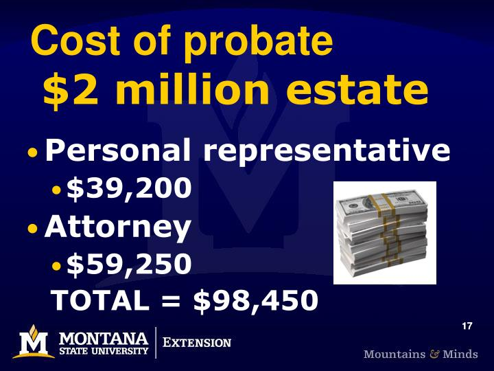 Cost of probate
