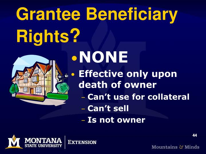 Grantee Beneficiary Rights