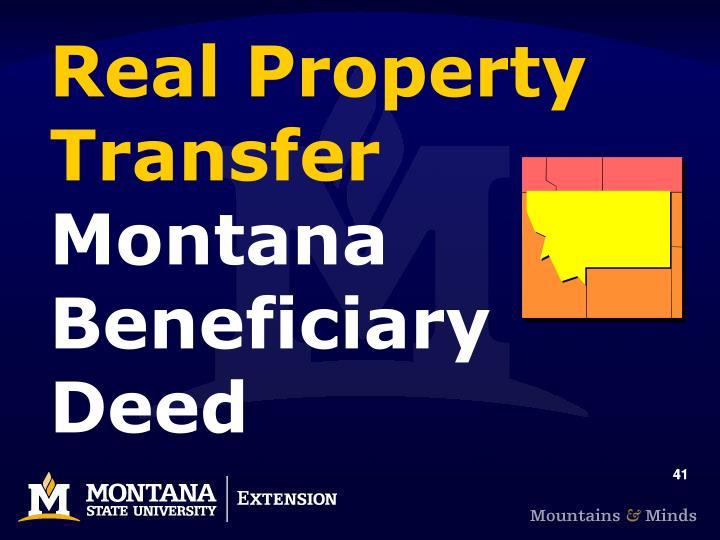 Real Property Transfer