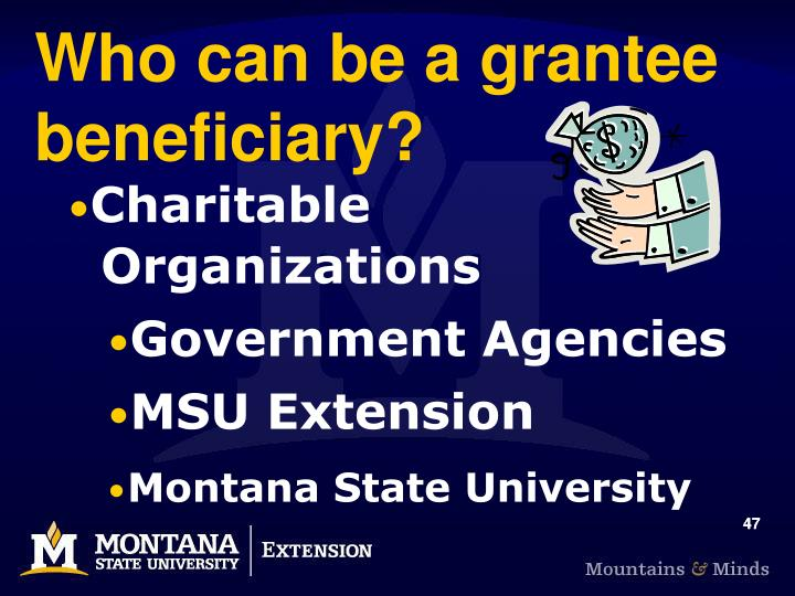 Who can be a grantee beneficiary?