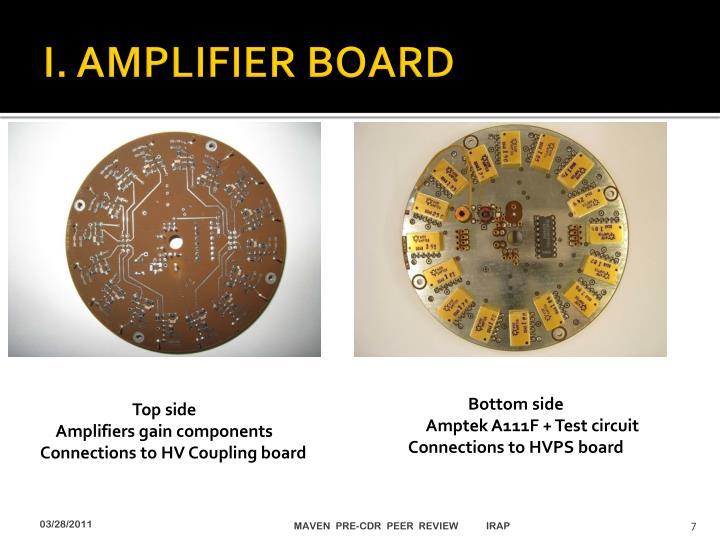 I. AMPLIFIER BOARD