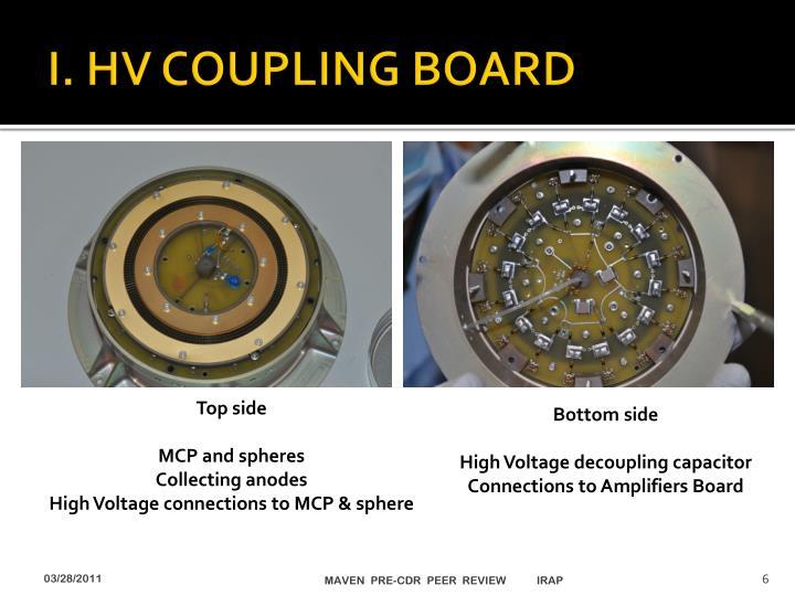 I. HV COUPLING BOARD