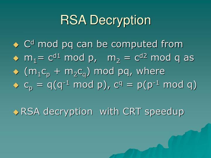 RSA Decryption