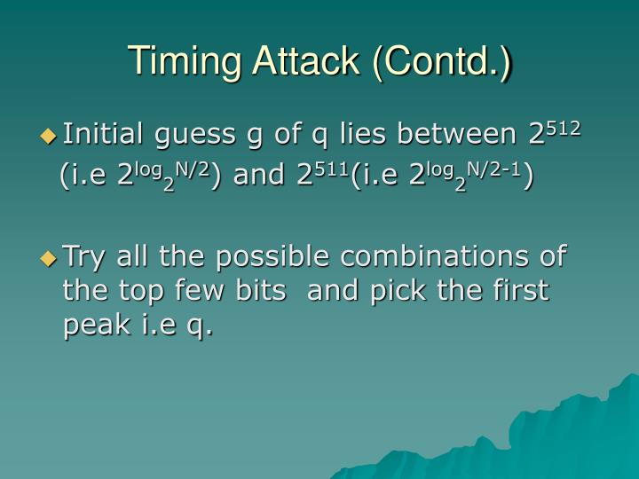 Timing Attack (Contd.)