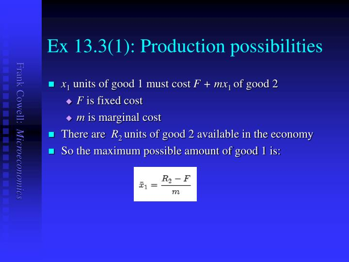 Ex 13 3 1 production possibilities