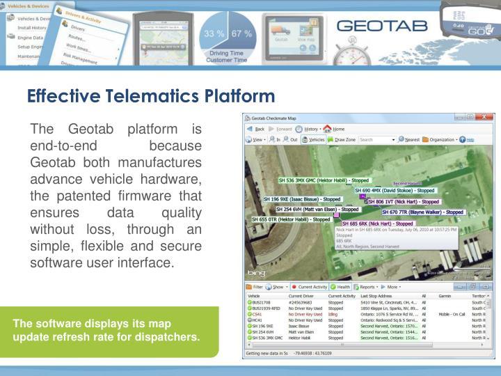 Effective Telematics Platform