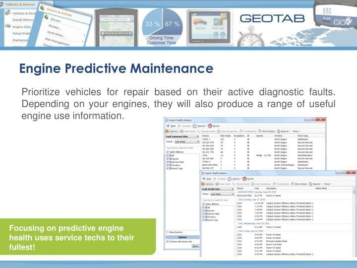 Engine Predictive Maintenance