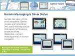 garmin messaging driver status