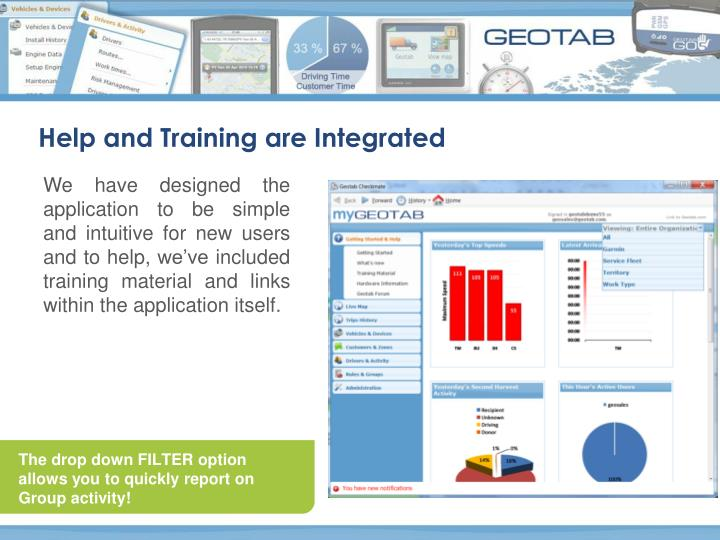 Help and Training are Integrated