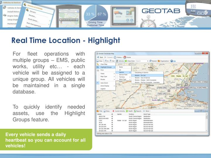 Real Time Location - Highlight