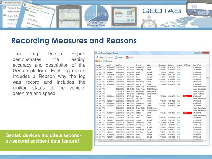 Recording Measures and Reasons