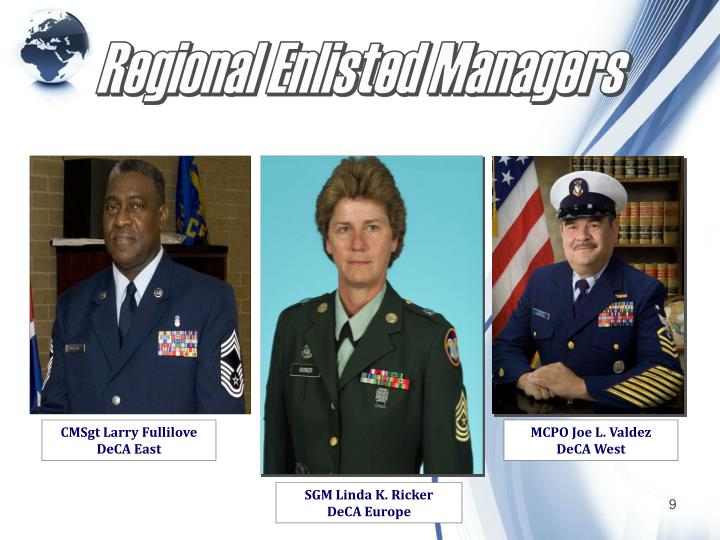 Regional Enlisted Managers