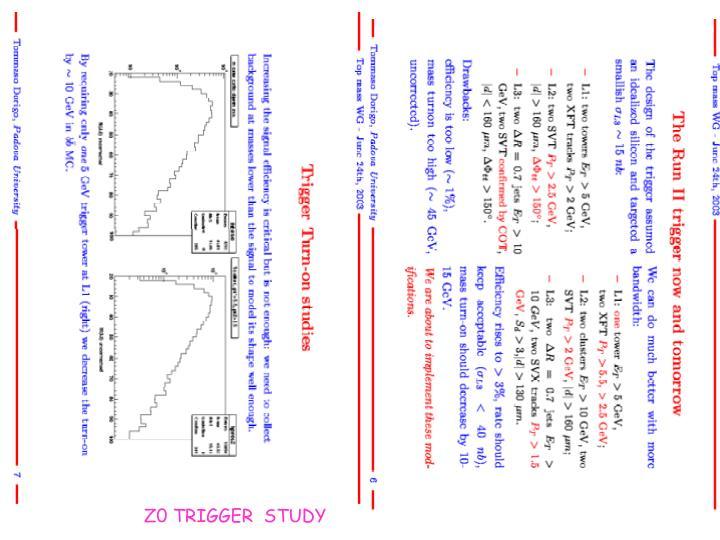 Z0 TRIGGER  STUDY