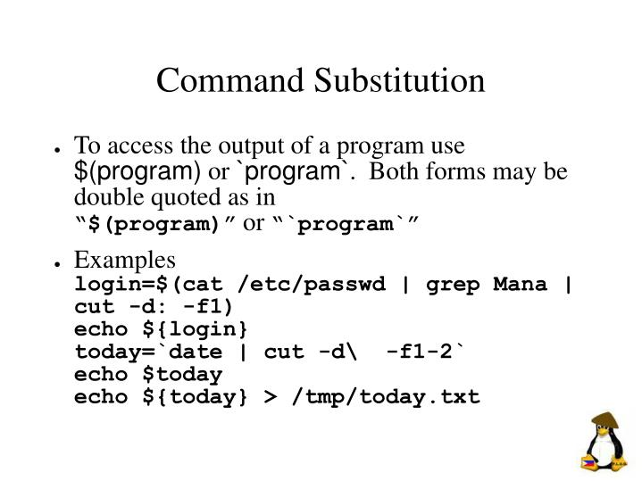 Command Substitution