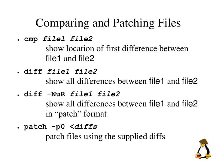 Comparing and Patching Files