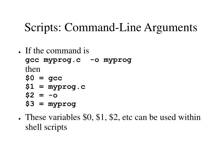 Scripts: Command-Line Arguments