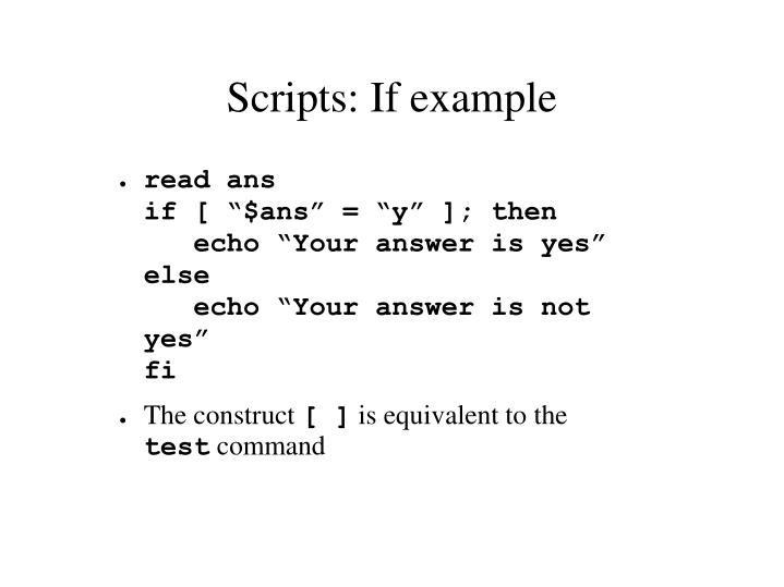 Scripts: If example