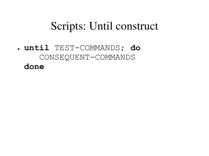 Scripts: Until construct